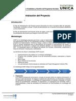 Plan de Administracion Del Proyecto PDF