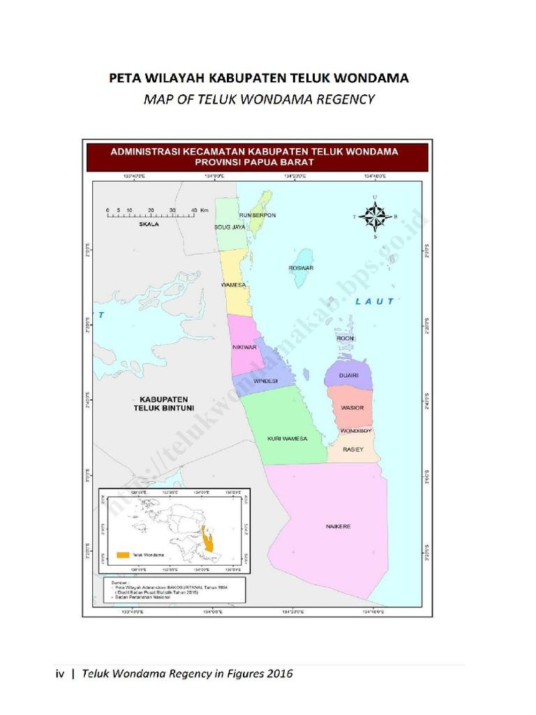 Peta Teluk Wondama