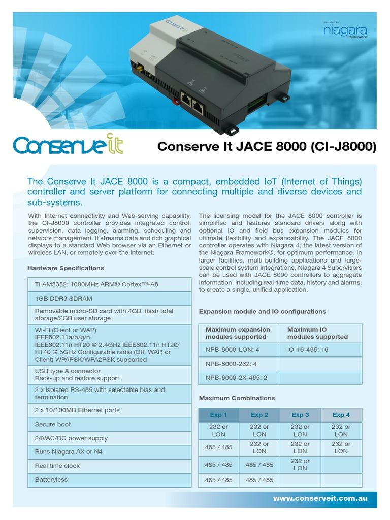 C10 ConserveIt_DataA4_CI-J8000 pdf | Controlador de