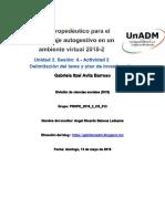 Unidad 2 Sesión 4 Actividad 2 Delimitación del tema y plan de investigación