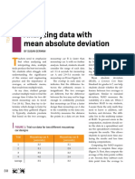 Analyzing Data With Mean Absolute Deviation