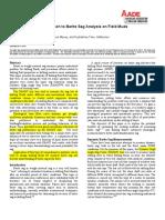 Barite Sag Analysis on Field Muds