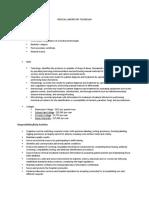 medical laboratory technician career journal