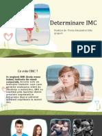 Determinarea Imc