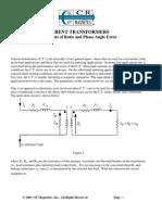 Analysis of Ratio and Phase Angle Errors