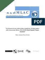 """""""La Formación de Una Cultura Política Republicana. El Debate Público Sobre La Masonería, México, 1821-1830 de María Eugenia Vázquez Semadeni"""""""