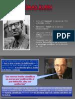 Tomas Khun y La Epistemologia Cientifica