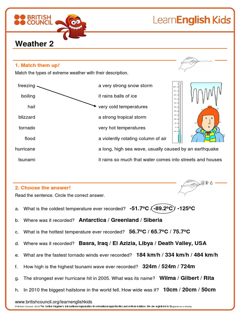 worksheets-weather-2 pdf | Hail | Tropical Cyclones