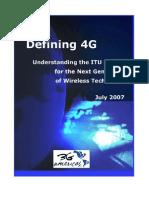 3G Americas Defining 4G WP July2007