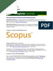 Register Journal Indonesia Citedness in Scopus