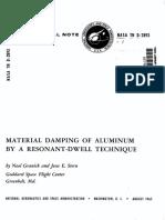 Material Damping of Aluminum