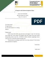 Contoh Surat Pengantar Untuk Dokumen Pengiriman Ekspor