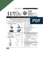 Olympiad IIO 2014 Class 3 Sample Questions