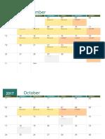 Orchestra Calendar 2017-18