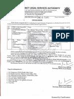 "Office Order regarding Legal Awareness Programme on ""Muslim Personal Law"""