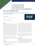 El Rol de La Evaluaci n Neuropsicol Gica en El Diagn 2016 Revista m Dica Cl
