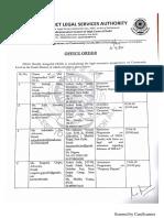 Office Order regarding Legal Awareness Programme at Community Level