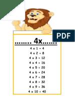 timetable 4x lion