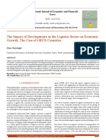 The Impact of Developments in the Logistics Sector on Economic Growth the Case of OECD Countries