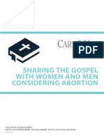 Sharing the Gospel With Women and Men Considering Abortion