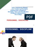 Public Personnel Discipline