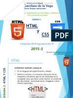 SEMANA 2 - HTML Y CSS