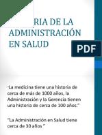 Historia de La Administración en Salud