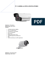 Hikvision Cctv Camera & Dvr and Features