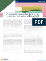 Principales Novedades de La Ley de Contratos Del Sector Publico 2017