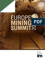 Europe Mining 2015 Summit Agenda