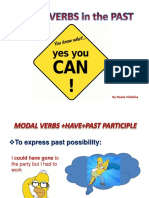 modal verbs in the past