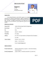 CV FOR THE POST OF EXECUTIVE PROCUREMENT