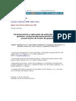 CMC Papers Proceso Caracterización y Aplicación de Películas a Base de Gelatina