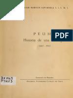 """Chile, """"Peumo, historia de una Parroquia 1662 - 1962"""""""