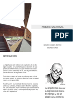 ARQUITECTURA ACTUAL GERARDO CORRES ZENTENO