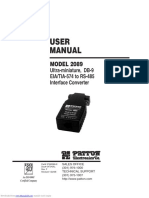 PATTON Manual RS232 to RS485 (Model 2089)