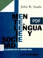 Mente, Lenguaje y Sociedad - Searle John