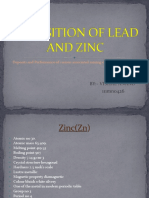 Deposition of Lead and Zink