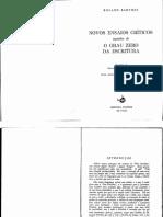 Barthes - O Grau Zero Da Escritura (Introd e 2a Parte)