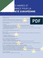 Charte des maires et élus de France pour la citoyenneté européenne