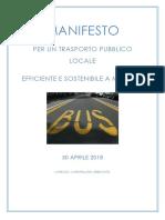 Manifesto Per Un Trasporto Pubblico Locale a Modena, 30 Aprile 2018