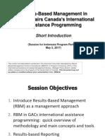 Presentation GAC RBM May 2017