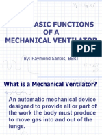 Four Functions of the Mechanical Ventilator