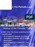 chapter 5 the periodic law notes and slides