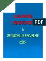 Uluslararasi 1. Yelken Kongresi Ve Sponsorluk Projeleri - Slayt Sunumu (Ali Riza DEGER)