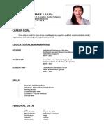 Alyza Marie s. Ulita - Resume