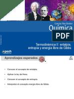 Clase 7 Termodinámica II Entalpía Entropía y Energía Libre de Gibbs 2014