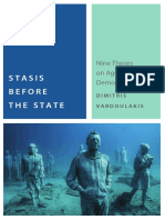 Vardoulakis Stasis Before the State -- I