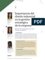 importancia diseño industrial en la gestuion estrategica de la empresa
