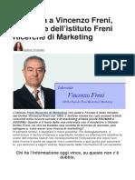 Intervista a Vincenzo Freni, fondatore dell'istituto Freni Ricerche di Marketing